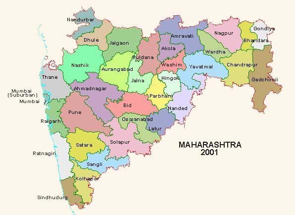 Maharashtra map district wise